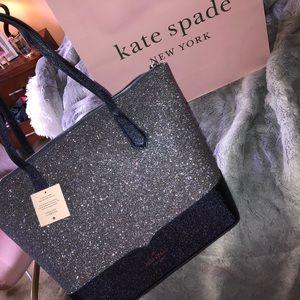 NWT Kate Spade Glitter Tote